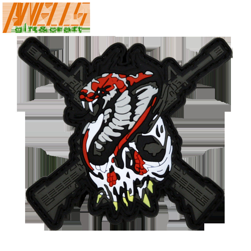Rubber Velcro Backing 3D Tactical Morale PVC Patch